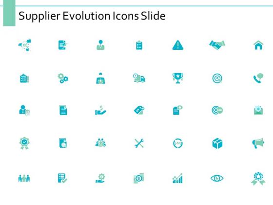 Supplier Evolution Icons Slide Marketing Ppt PowerPoint Presentation Infographics Guidelines