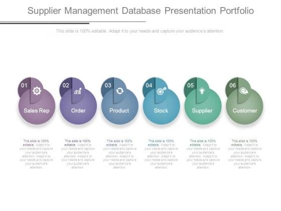 Supplier Management Database Presentation Portfolio