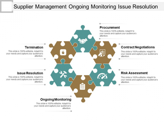 Supplier Management Ongoing Monitoring Issue Resolution Ppt PowerPoint Presentation Icon Skills