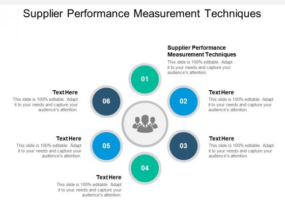 Supplier Performance Measurement Techniques Ppt PowerPoint Presentation Infographic Template Demonstration