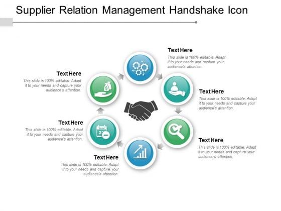 Supplier Relation Management Handshake Icon Ppt PowerPoint Presentation Styles Files