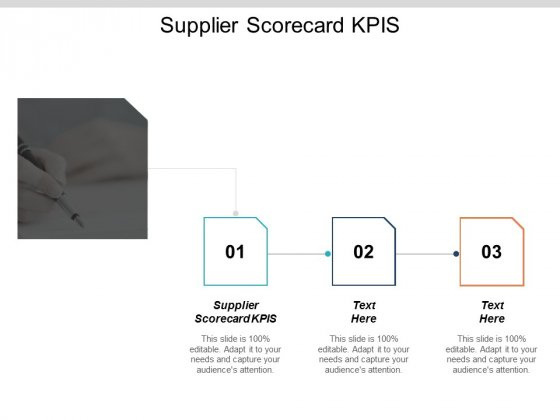 Supplier Scorecard Kpis Ppt PowerPoint Presentation Professional Slide Cpb
