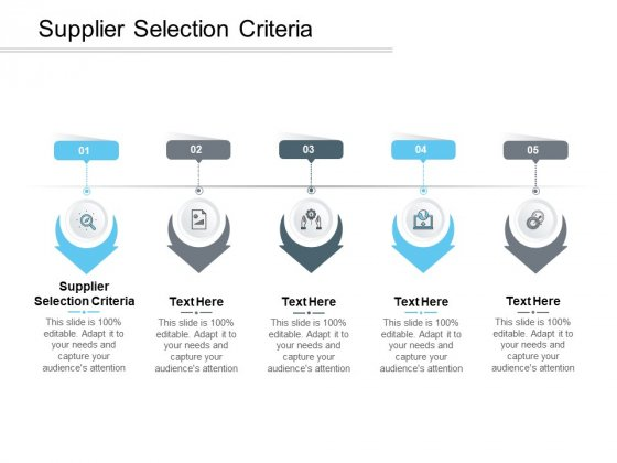 Supplier Selection Criteria Ppt PowerPoint Presentation Slides Graphic Tips Cpb