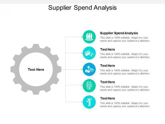 Supplier Spend Analysis Ppt PowerPoint Presentation Styles Cpb