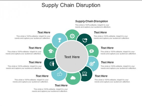 Supply Chain Disruption Ppt PowerPoint Presentation Layouts Maker Cpb