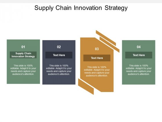 Supply Chain Innovation Strategy Ppt PowerPoint Presentation Layouts Mockup Cpb