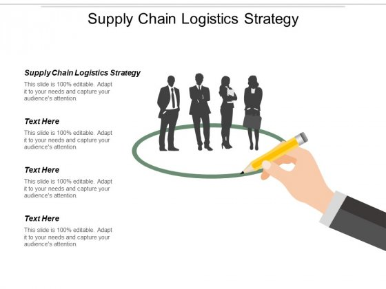Supply Chain Logistics Strategy Ppt PowerPoint Presentation Slides Clipart Cpb