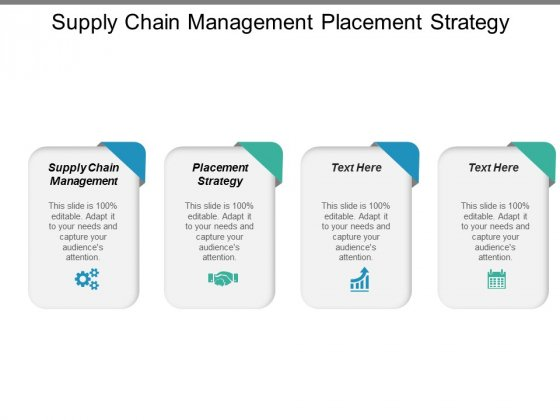 Supply Chain Management Placement Strategy Ppt PowerPoint Presentation Summary Picture