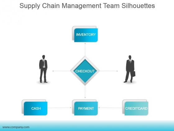 Supply Chain Management Team Silhouettes Ppt PowerPoint Presentation Background Images
