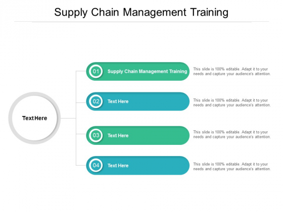 Supply Chain Management Training Ppt PowerPoint Presentation Inspiration Infographics Cpb