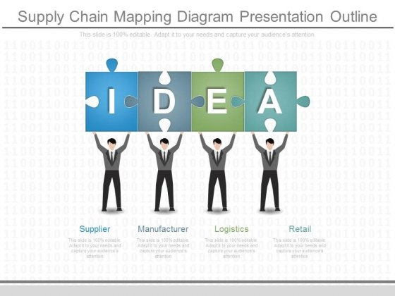 Supply Chain Mapping Diagram Presentation Outline