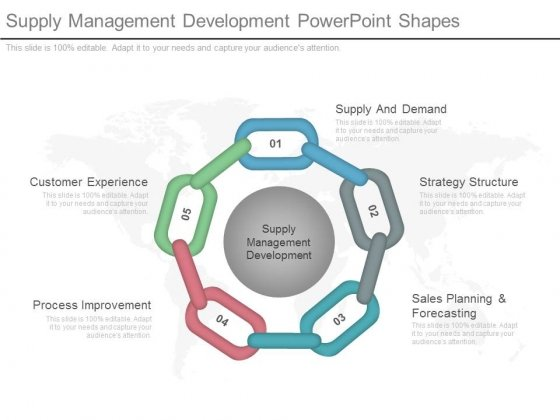 Supply Management Development Powerpoint Shapes