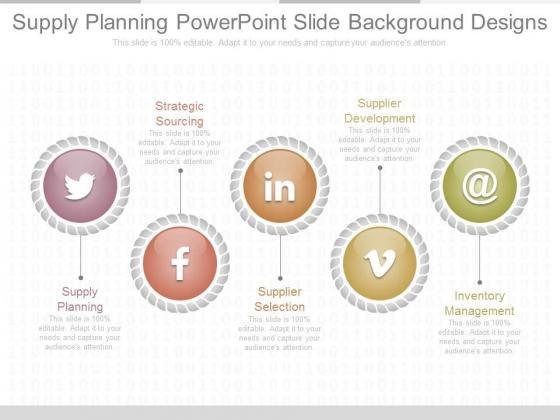 Supply Planning Powerpoint Slide Background Designs