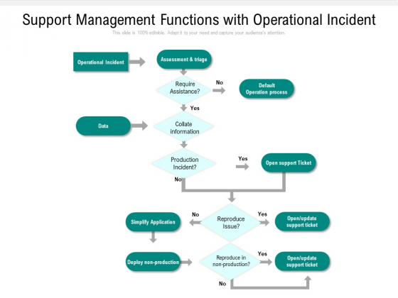 Support Management Functions With Operational Incident Ppt PowerPoint Presentation File Outline PDF