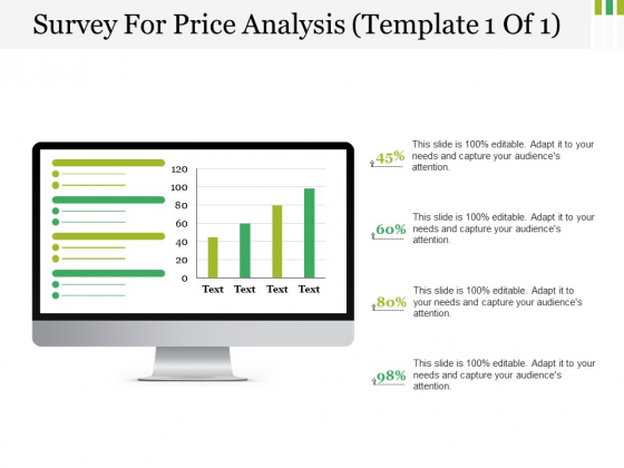 Survey For Price Analysis Template 1 Ppt PowerPoint Presentation Outline Icon