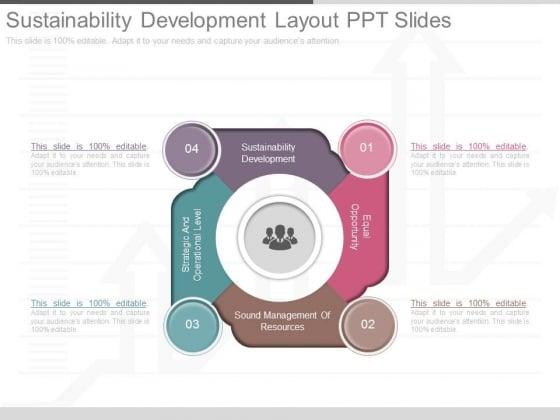 Sustainability Development Layout Ppt Slides