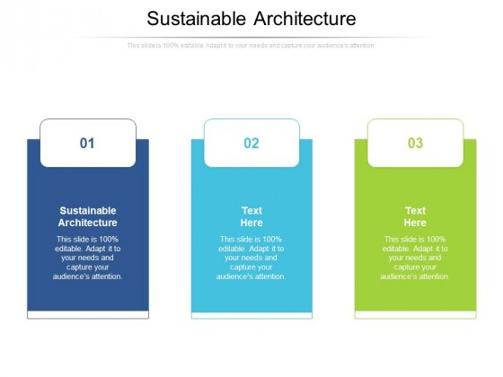Sustainable Architecture Ppt PowerPoint Presentation Icon Design Ideas Cpb