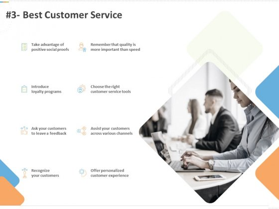 Sustainable Competitive Advantage Management Strategy 3 Best Customer Service Ppt Infographic Template Aids PDF