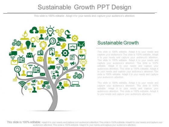 Sustainable Growth Ppt Design