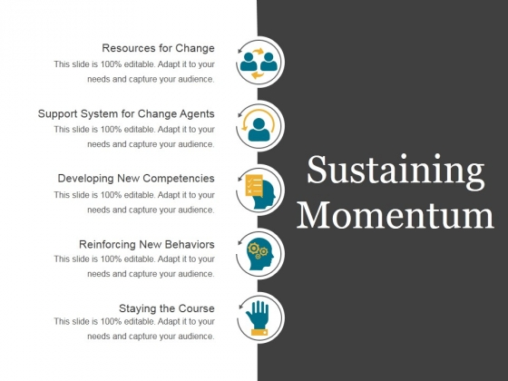 Sustaining Momentum Template 2 Ppt PowerPoint Presentation Infographics
