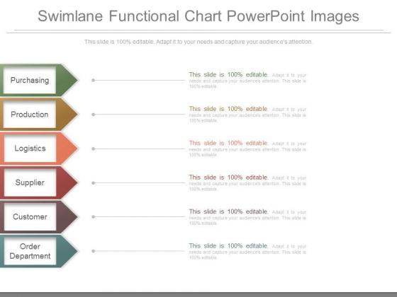 Swimlane Functional Chart Powerpoint Images