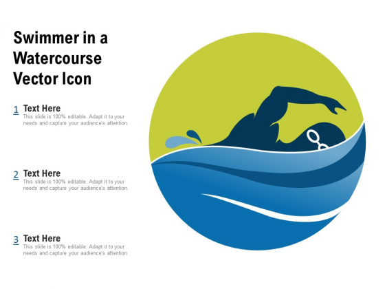 Swimmer In A Watercourse Vector Icon Ppt PowerPoint Presentation File Background Images PDF