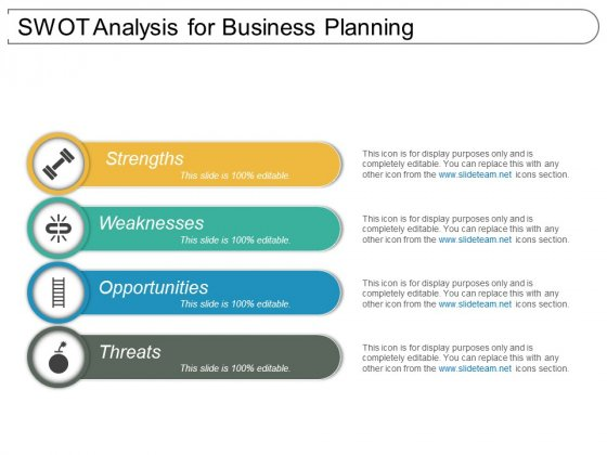 Swot Analysis For Business Planning Ppt PowerPoint Presentation Infographics Show