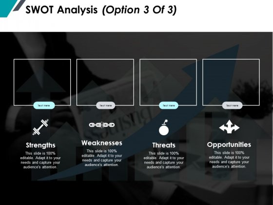 Swot Analysis Marketing Ppt PowerPoint Presentation Professional Graphics Template