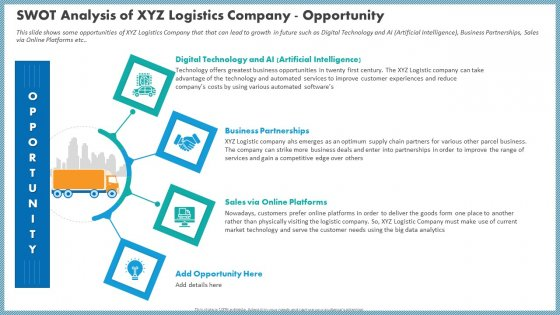 Swot Analysis Of XYZ Logistics Company Opportunity Guidelines PDF