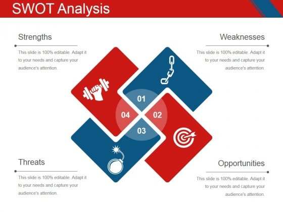 Swot Analysis Template 1 Ppt PowerPoint Presentation Icon Example Introduction