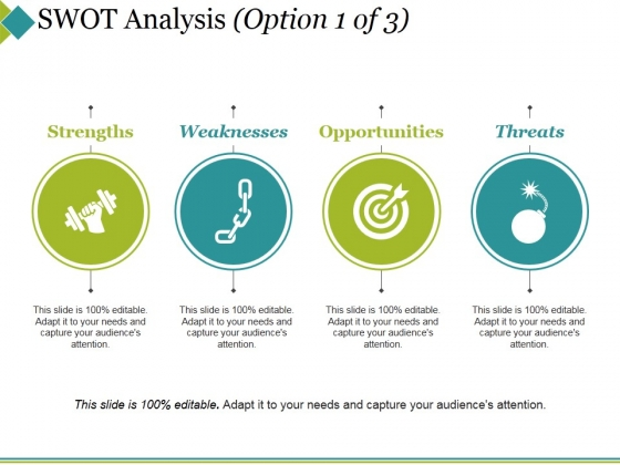 Swot Analysis Template 1 Ppt PowerPoint Presentation Professional Graphics