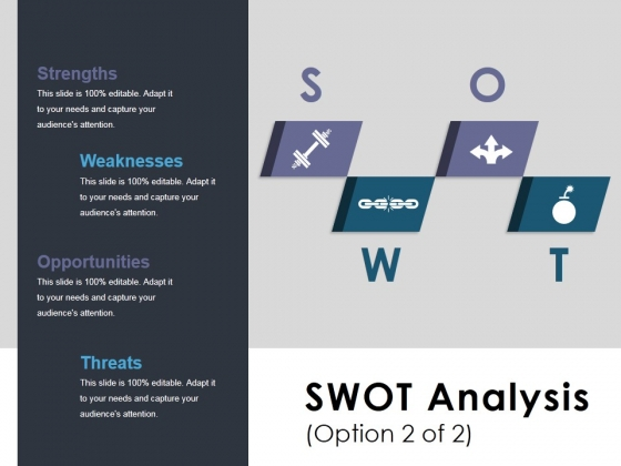 Swot Analysis Template 2 Ppt PowerPoint Presentation Icon Slides