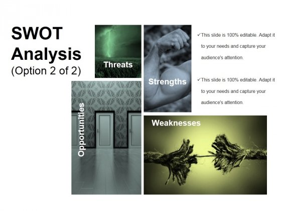 Swot Analysis Template 2 Ppt PowerPoint Presentation Model Objects