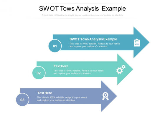 Swot Tows Analysis Example Ppt PowerPoint Presentation File Graphics Example Cpb