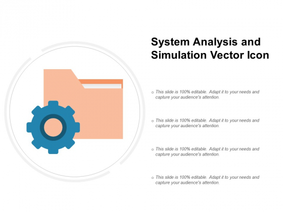 System Analysis And Simulation Vector Icon Ppt PowerPoint Presentation Infographics Pictures