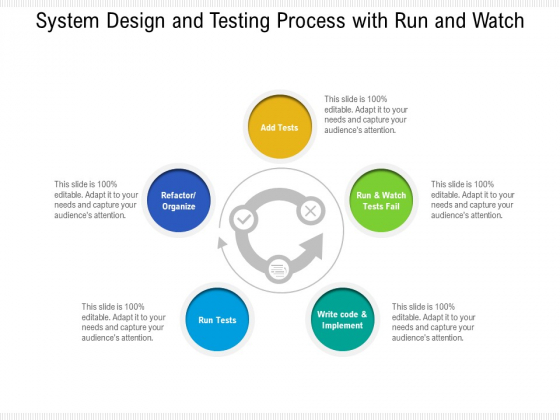 System Design And Testing Process With Run And Watch Ppt PowerPoint Presentation File Inspiration PDF