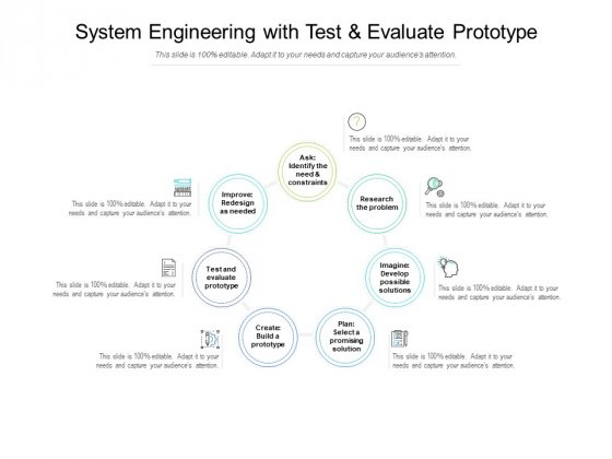 System Engineering With Test And Evaluate Prototype Ppt PowerPoint Presentation Slides Example