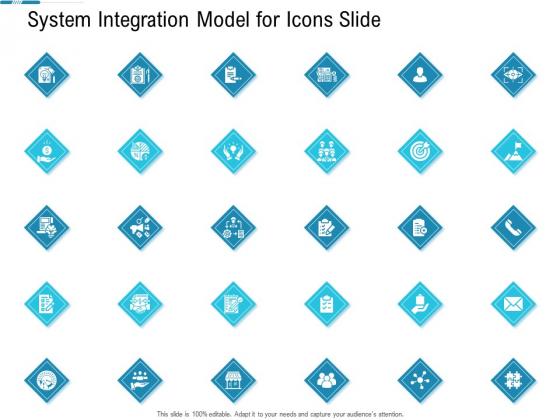 System Integration Model For Icons Slide Ppt Infographic Template Information