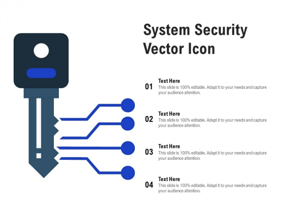 System Security Vector Icon Ppt PowerPoint Presentation Model Templates