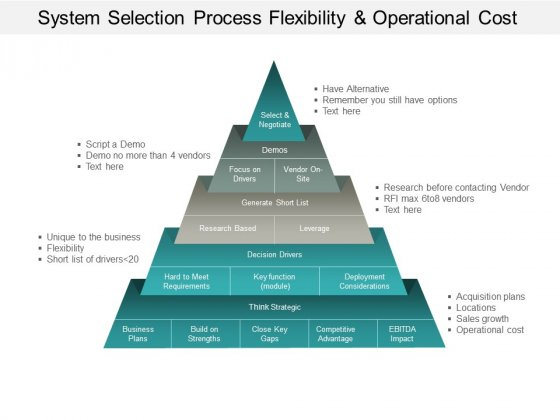 System Selection Process Flexibility And Operational Cost Ppt PowerPoint Presentation Professional Ideas