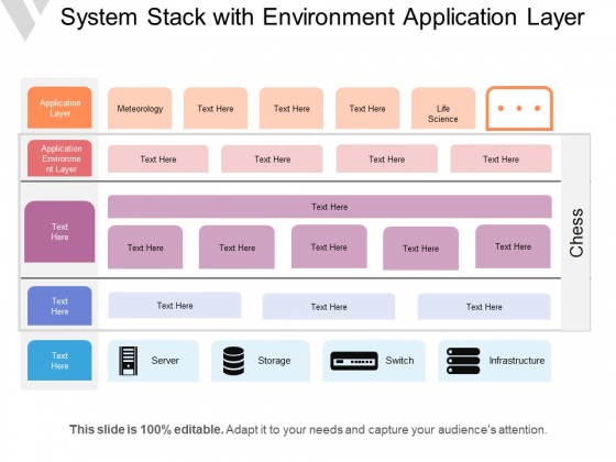 System Stack With Environment Application Layer Ppt PowerPoint Presentation Icon Microsoft PDF