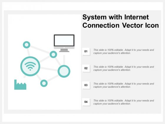 System With Internet Connection Vector Icon Ppt PowerPoint Presentation Gallery Rules