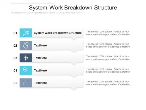System Work Breakdown Structure Ppt PowerPoint Presentation Infographics Infographic Template Cpb Pdf