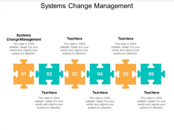 Systems Change Management Ppt PowerPoint Presentation Styles Good Cpb