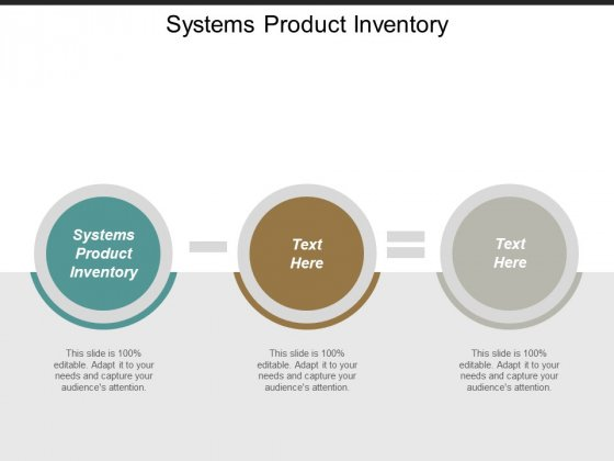 Systems Product Inventory Ppt PowerPoint Presentation Visual Aids Ideas Cpb