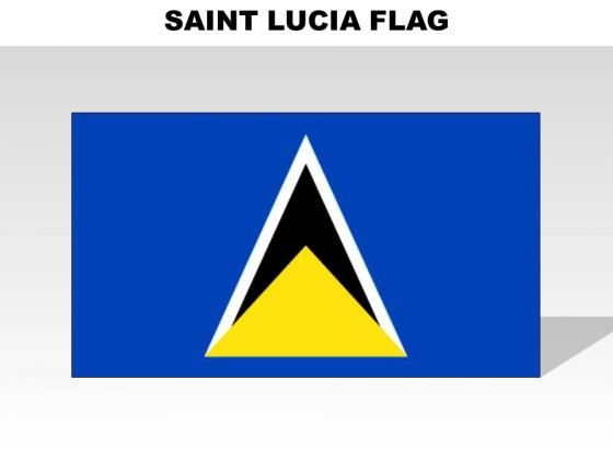 Saint Lucia Country PowerPoint Flags