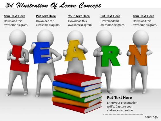 Sales Concepts 3d Illustration Of Learn Character Modeling