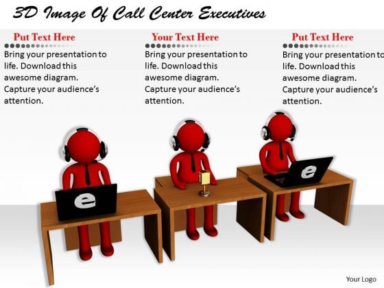 Sales Concepts 3d Image Of Call Center Executives Characters