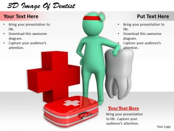 Sales Concepts 3d Image Of Dentist Characters