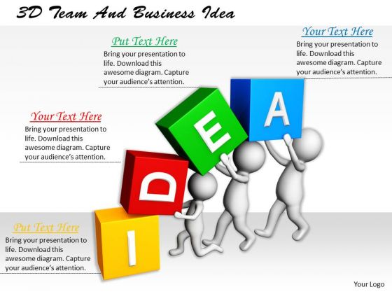 Sales Concepts 3d Team And Business Idea Basic